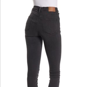 """Madewell 9"""" High Rise Skinny Jeans Washed Black"""